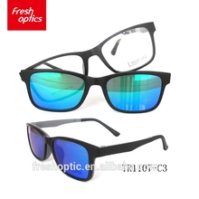 Classic sun glasses sunglasses blue TR90 magnetic clip on sun glasses polarized