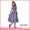 Ladies Floral Print Strappy Smocked Sundress Dress Woman Cotton Dress