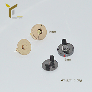 Wholesale 14mm Magnetic Button for bag and clothing Magnetic push metal Button