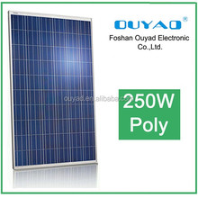 Quality guarantee 250w 255w 260w 265w poly pv solar panel price /Most famous best high voltage home roof installation off grid