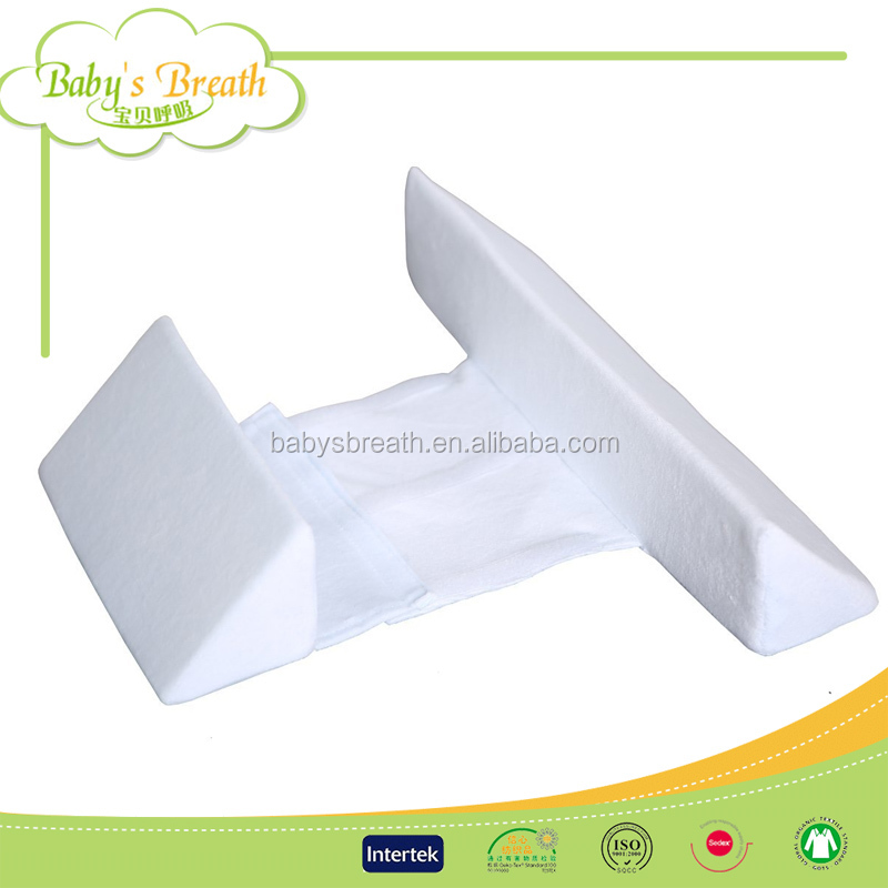PP23 Baby Crib Sleep Wedge Pillow with Anti Roll Pillow