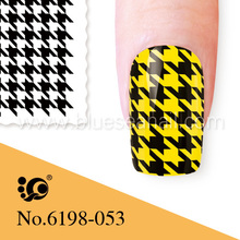 plaid design nail art stickers cosmetics in thailand