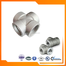 Forged High Pressure Pipe Fittings Socket Weld Carbon Steel Straight Cross