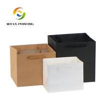 Square bottom own logo custom round flower boxes packing paper bags