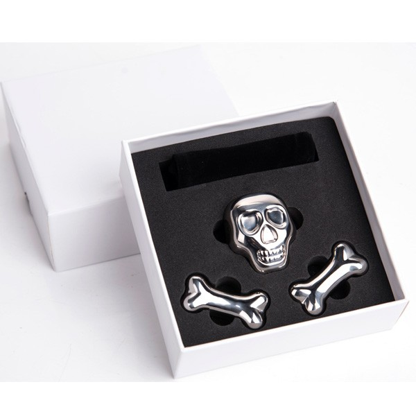 Stainless Steel Reusable Skull and Bones Ice cube Set for Cooling <strong>Wine</strong> Drinks Beverage