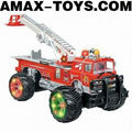 rfe-1091628 fire truck model toy Emutational Remote Control Ladder Truck with Music and Lights
