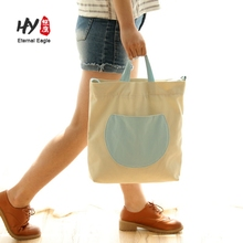 Promotion cotton customized canvas printed logo tote bag