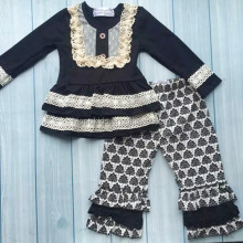 Latest designs Persnickety remake outfits black cotton newborn baby clothes boutique girl clothing