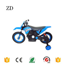Hebei Zandi factory high quality 12inch electric dirt bike for kids shock absorption children moto battery bicycle