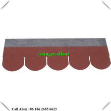 cheap red fish scale asphalt shingle / asphalt roof tiles in China