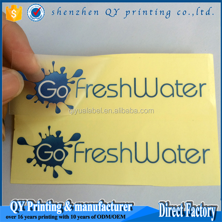 transparent pvc label sticker ,vinyl stickers with logo,round clear vinyl stickers