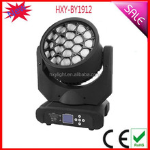 2015 New Arrival 19*12w RGWB 4-in-1 Charming Effects Amazing Hawkeye Moving Head Light