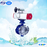 pneumatic actuator cylinder regulate API butterfly valve