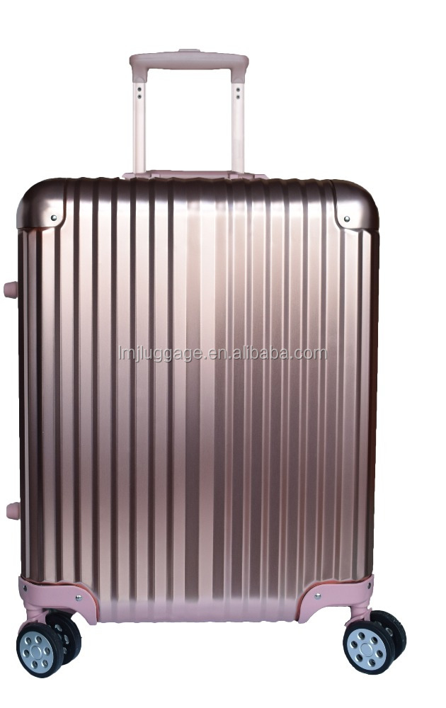 Most Fashionable Supplier rolling aluminum trolley train case with GPS /suitcase professional makeup