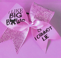 Bling I Like Big Bows letter Cheer Bows with Rhinestones
