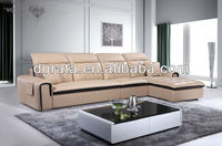 2013 newest sofa furniture was made from metal leg and high density sponge and genuine leather