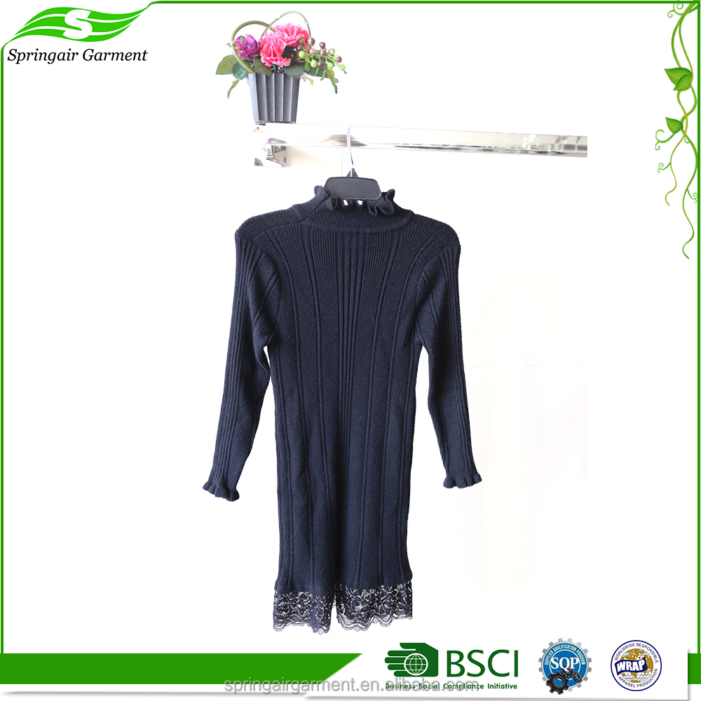 Fashion Cheap Custom black long sleeve women winter maxi sex dress