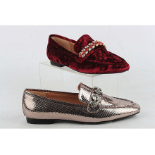 Wholesale high quality Round Toe Fancy Ladies Women Flat Dress Shoes