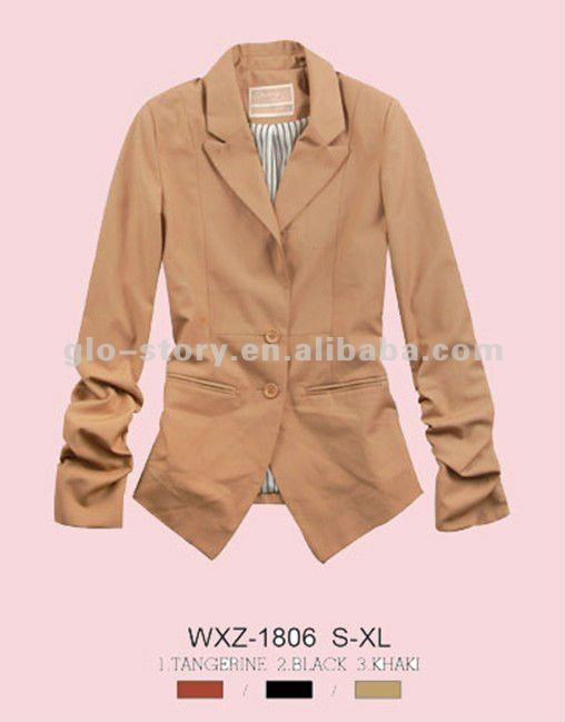 two button fashion suit jacket for girl autumn style