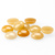 Yellow honey jade flat back round shape cabochons