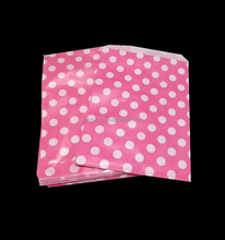 Printed colorful dots greaseproof paper bags for gift packaging
