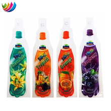 flexible liquid plastic juice drink bag