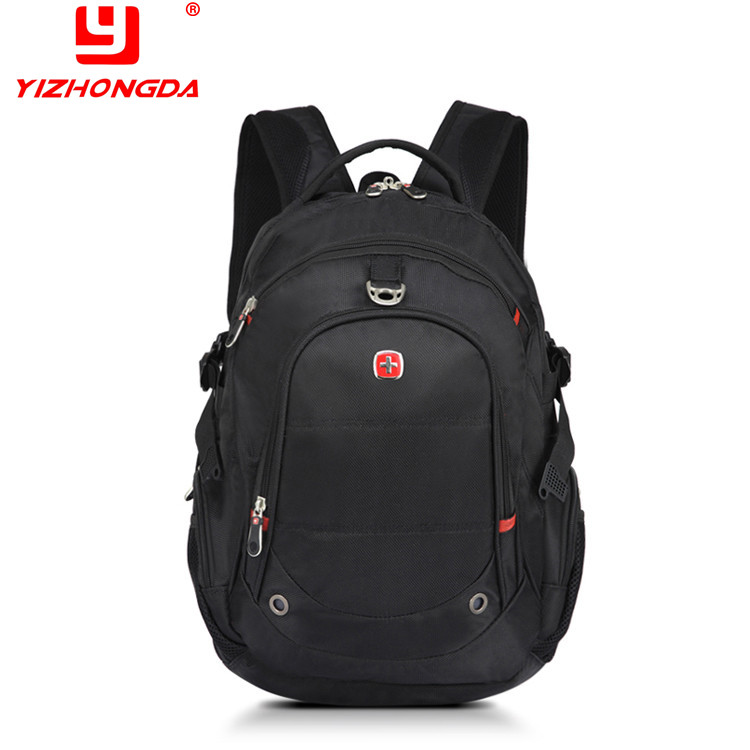 2017 China supplier factory-price waterproof nylon black best laptop messenger bag backpack brands for <strong>school</strong>