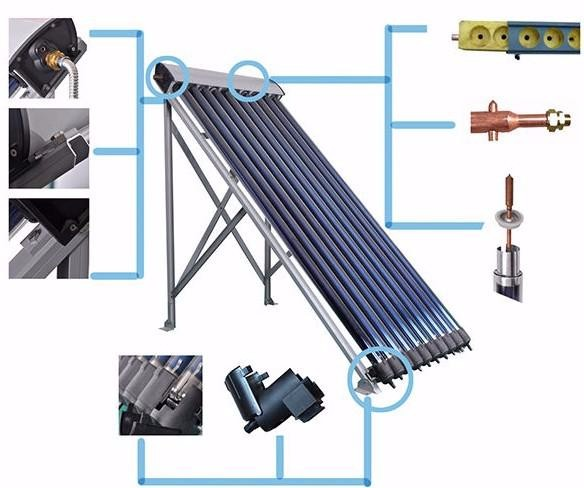 high efficiency CE certified heat pipe solar collector
