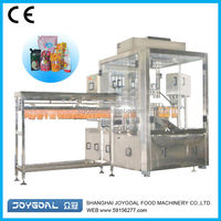 Aseptic plastic pouch filling machine/ny/pe stand up pouch with spout
