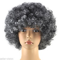 Mixed grey afro wigs for old man FGW-0041