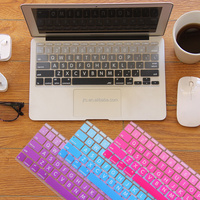 JRC gradual Color Layout, Keyboard Skin Slicone Cover for Macbook Pro and Air , Big Letter Version