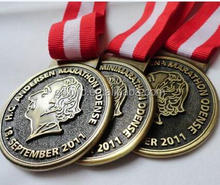 Custom Made European style metal marathon running finisher sports medal Denmark