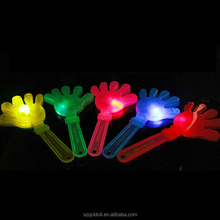Gift Led Flashing Clapper Top Quality Hot Selling Cheap Promotion Noise Maker Plastic Lovely Fan Led Flashing Hand Clapper