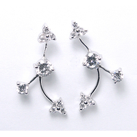 925 Sterling Silver Cubic Zirconia Earrings Wholesale Jewellery Jewelry