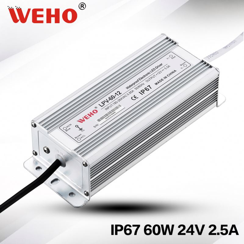 IP67 24V waterproof constant voltage 60W waterproof switching power supply led