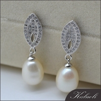 Latest fashion 925 silver pearl earing designs