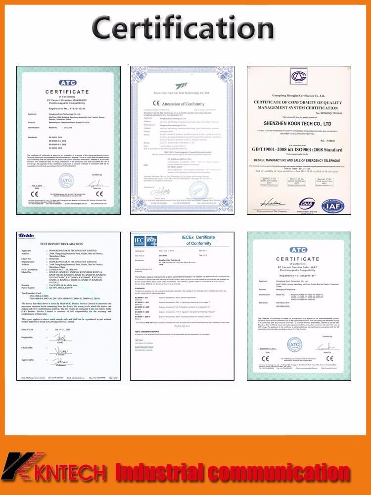 emergency waterproof telephone certification