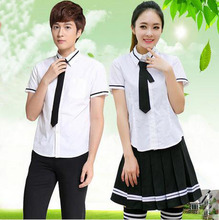 Direct manufacturers cotton/polyester sex girl colours patterns high school uniform design