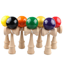 wholesale wooden YZ031 Japanese traditional game kendama solid ball toy
