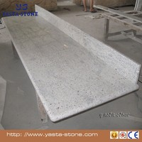 Prefab Kashmir White Kitchen Granite Countertops with Laminated Bullnose