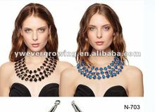 2013 charm jewel fashion metal necklace /fashion collar jewelry,costume jewelry set,detachable collar
