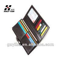 Long style wallet for men many card slots QB15 waxy wallet