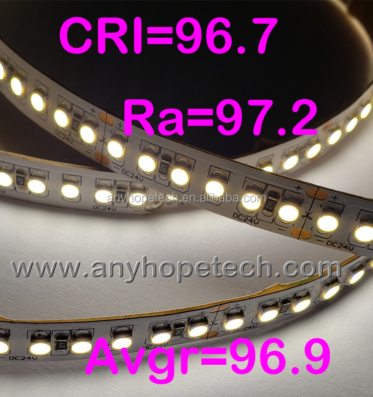 one bin 3 steps CRI 95 R9>90 Full Spectrum Sunlight Color LED Strip Light UL Listed 5 years warranty