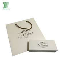 Luxury Jewellery Packaging Sets Cheap Price Custom Printing Gold Hot Foiled Gift Box Sets with Recycled Paper Bags