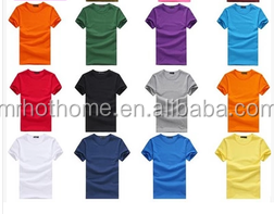Summer casual blank t shirt assort color and size