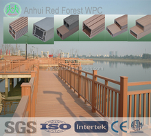 waterproof wood plastic composite river road railing