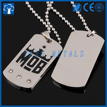cheap metal blank dog tag can custom with your design or logo