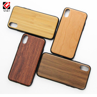 New Arrivals Custom Logo TPU Frame Blank Wood Phone Cover Case For iPhone X XR XS Max