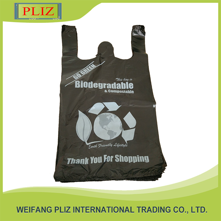 Low Cost High Quality custom shopping organic plastic bag and t-shirt plastic bags