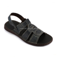2016 shoes factory wholesale latest new style genuine pure leather Roman flat sandals designs for men